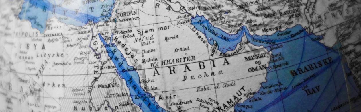 Gamalt kart over midtausten