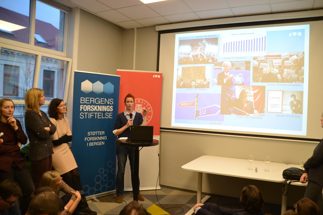 Peters presenting