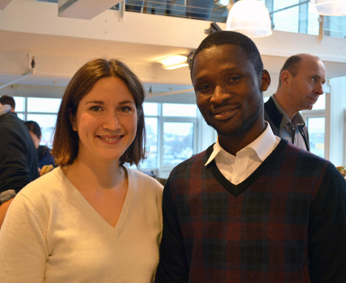 Astrid Maria Cabrera and Moses Adjei