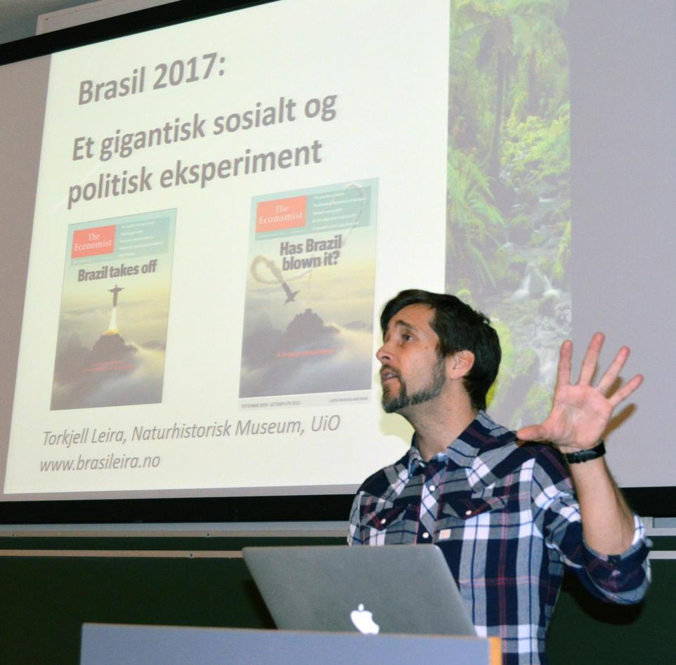 Torkjell Leira foredrar om Brasil