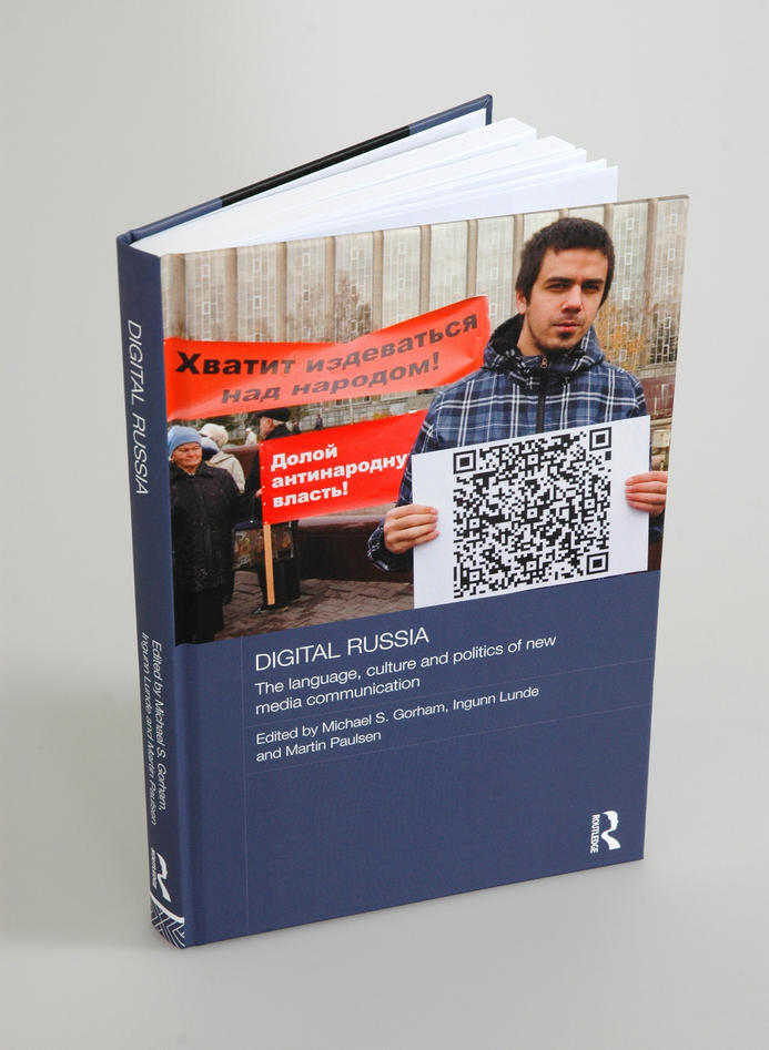 The cover of the book Digital Russia: Language Culture in the Era of New Technology, co-edited by Ingunn Lunde, Martin Paulsen, and Michael S. Gorham.