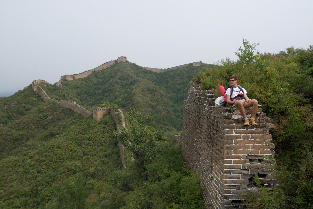 Student på den kinesiske mur