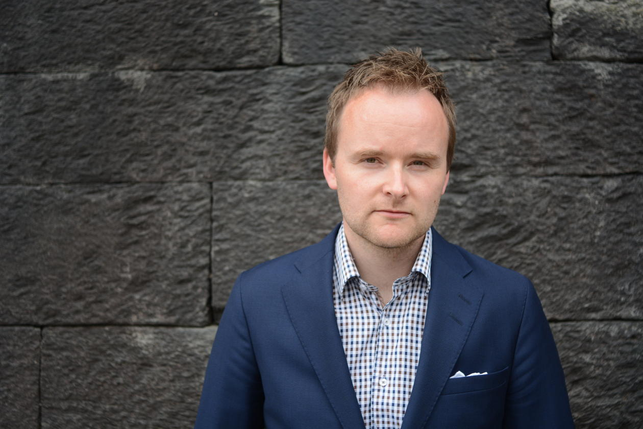 Professor Eirik Holmøyvik, Faculty of Law, University of Bergen photographed in June 2014 for the UiB Magazine.