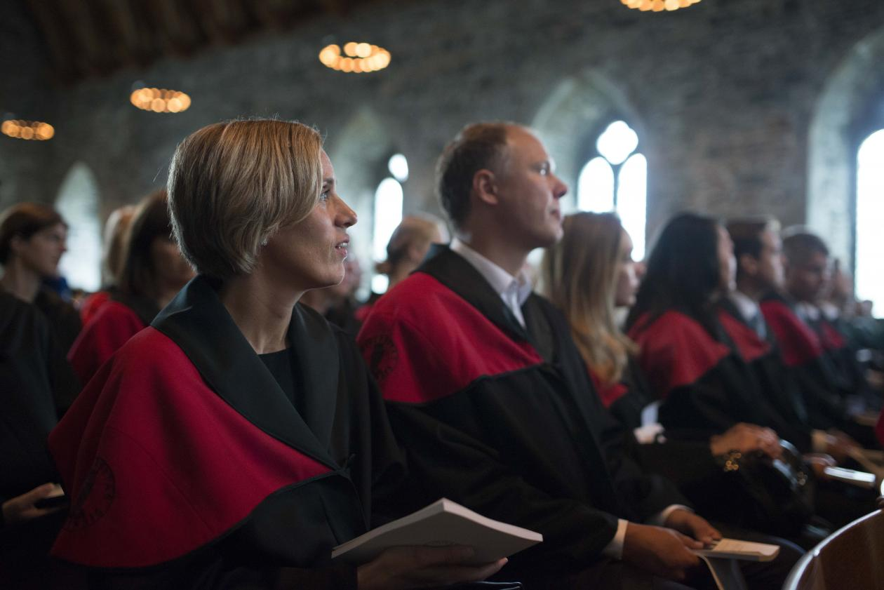 Doctoral promotion in Håkonshallen