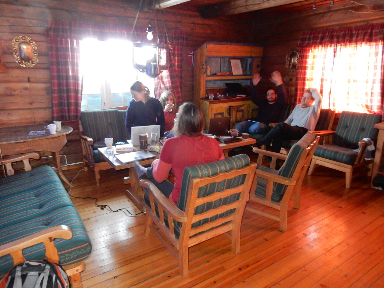 The university cabin Ottesheimen was a perfect basis for science discussions during the retreat