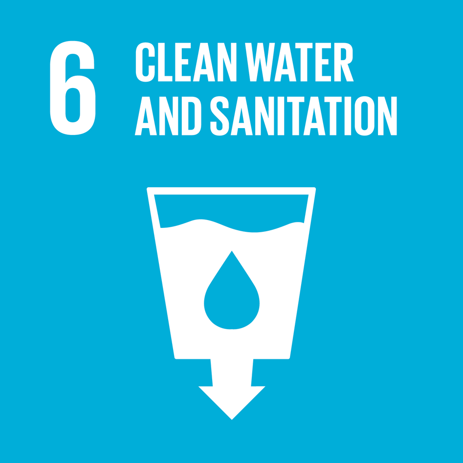 Logo for Sustainable Development Goal 6 (SDG6), Clean Water and Sanitation