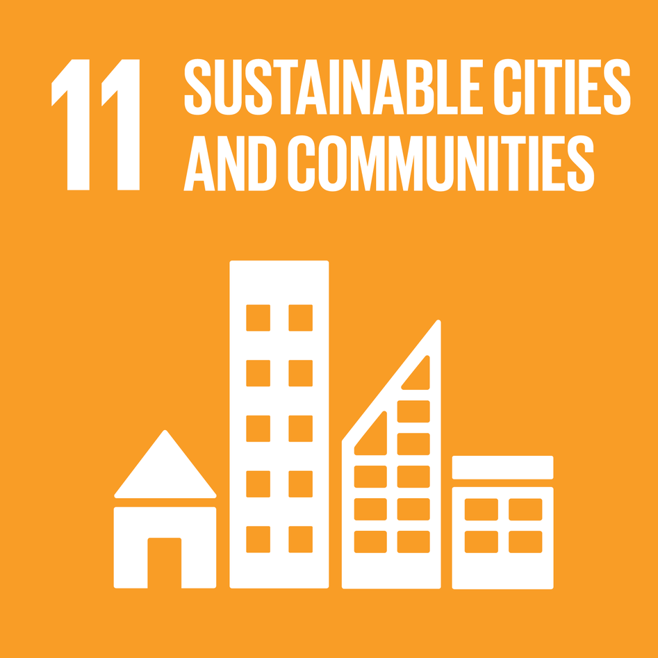 The Logo for Sustainable Development Goal 11 (SDG11): Sustainable cities and communities