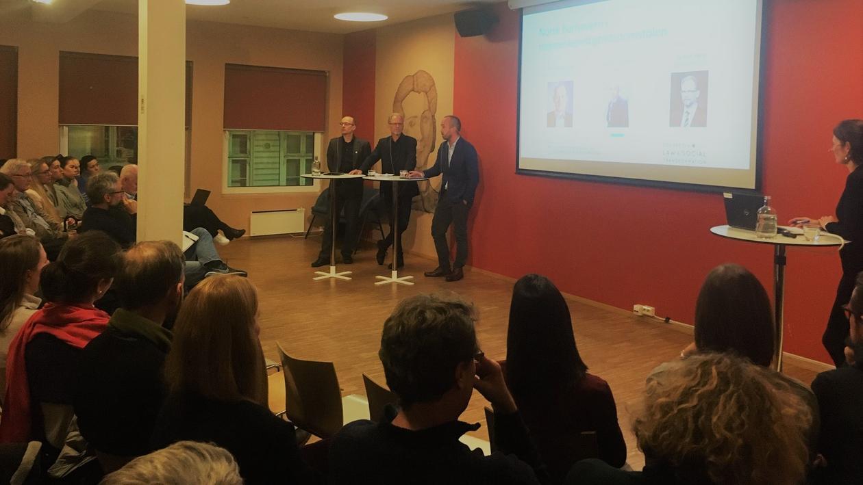 Panelet i arrangementet om norsk barnevern i menneskerettighetsdomstolen