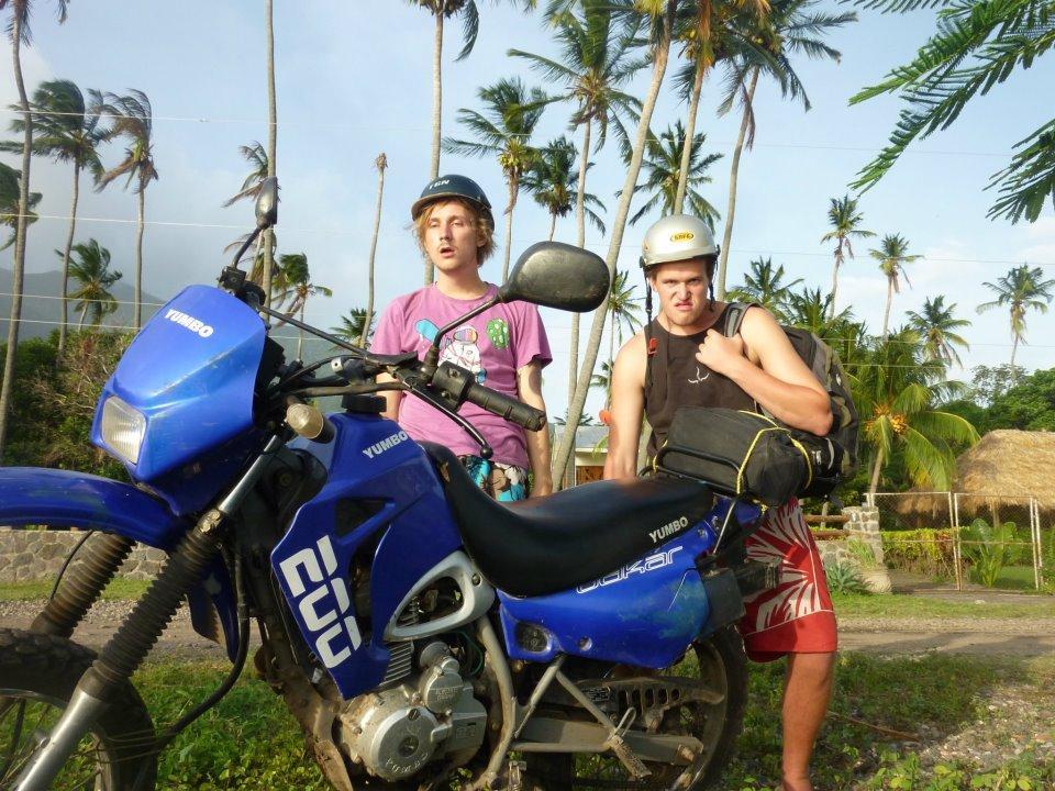 På mopedtur i Ecuador