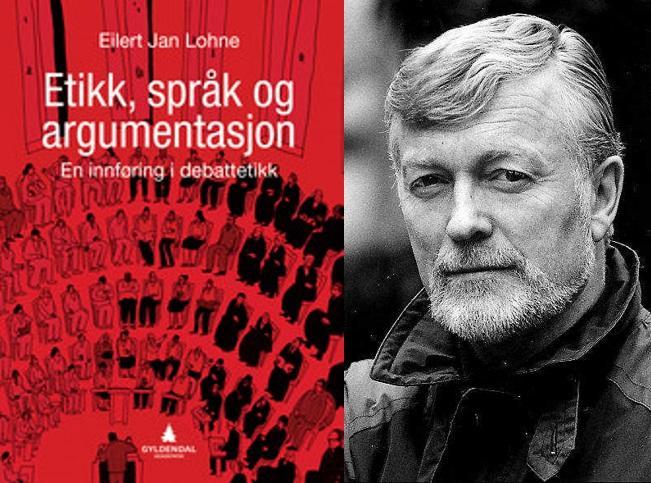 Portrettfoto av Eilert Jan Lohne ved siden at forsiden på boken