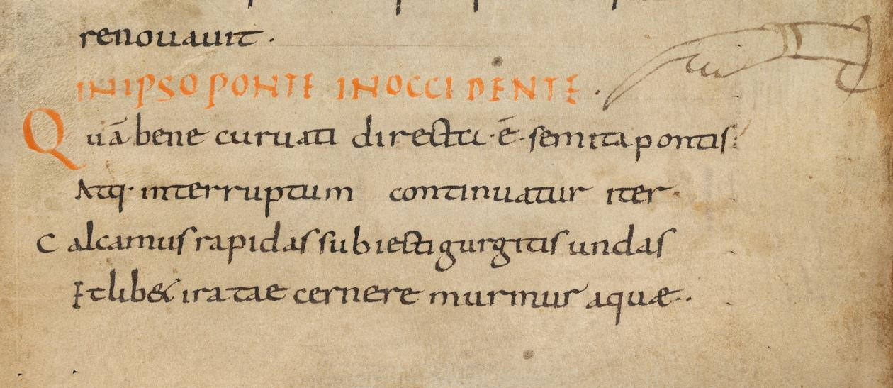 Einsiedeln, Stiftsbibliothek, MS 326(1076) (s. ix/x), fol. 67r (detail)