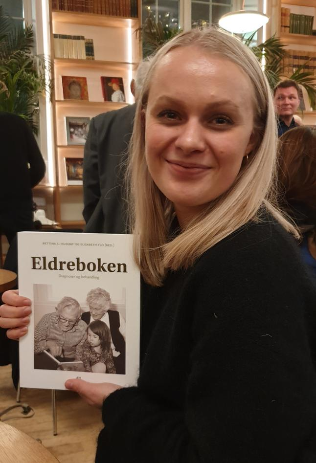 Ingvild Marienborg på lansering av Eldreboken