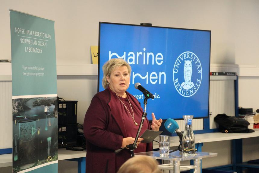 Erna inviterte til toppmøte om havvind ved UiB