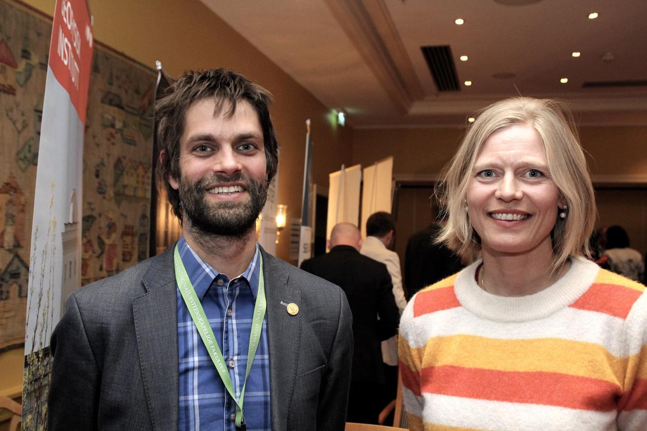 """Christian Jørgensen og Pernille Bronken Eidesen får status som """"Framifrå undervisarar"""" og vert med i Pedagogisk Akademi."""