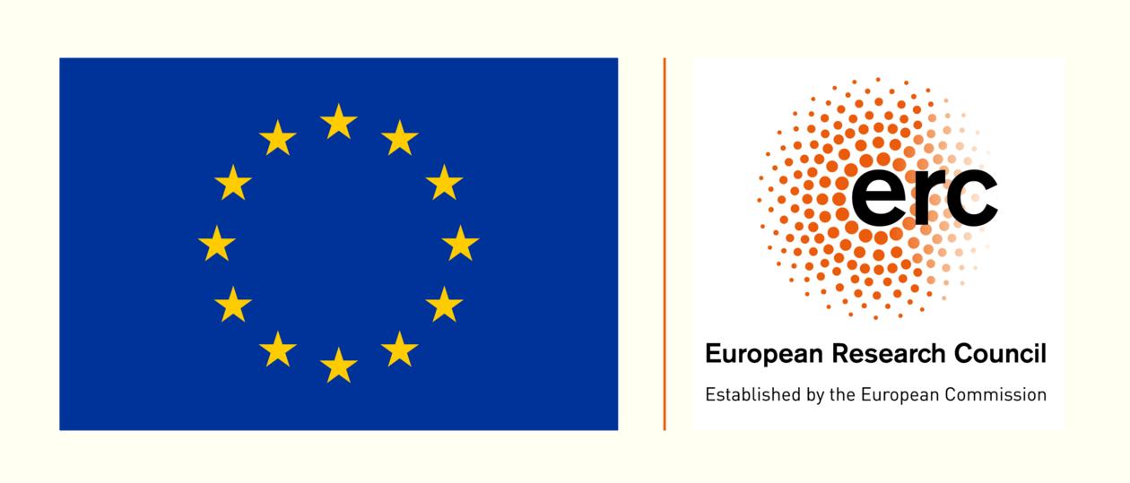 EU flag and ERC logo