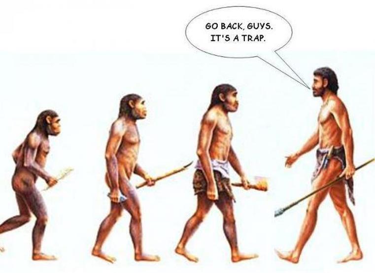 evolution or de-evolution?