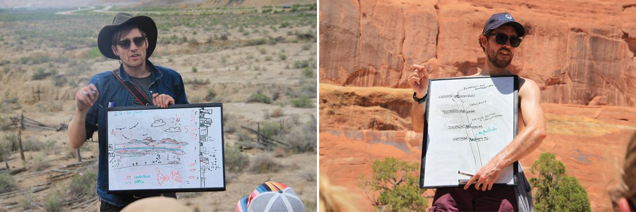 Bilder av undervisere i felt i Utah