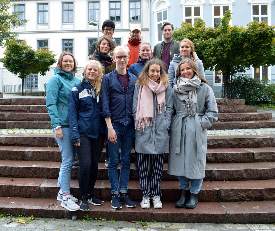 Fagutvalget i trappa utanfor SV-fakultetet