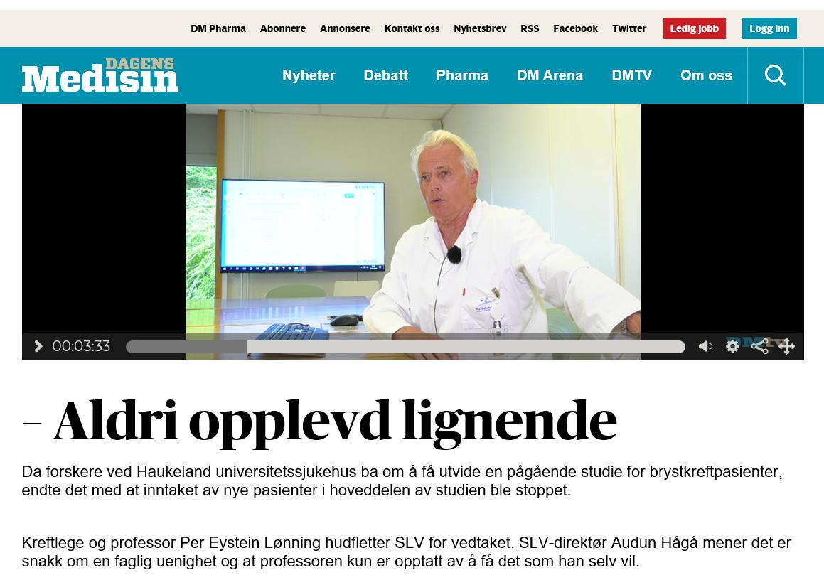 Faksimile Dagens Medisin