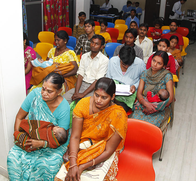 Families waiting for Enrollment in Indian rotavirus trial
