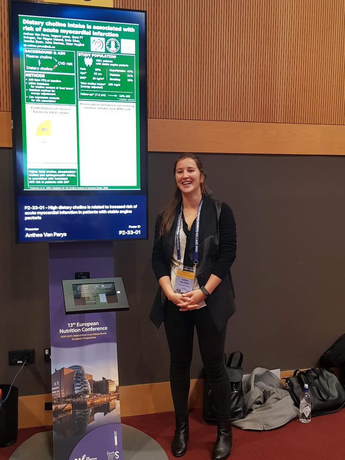 Anthea Van Parys på FENS-konferansen