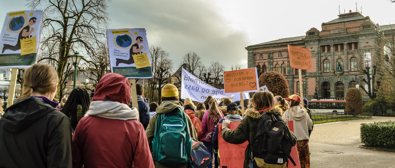Strike for climate in Bergen