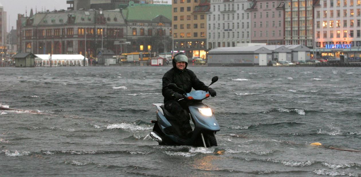 Springflo i Bergen januar 2005