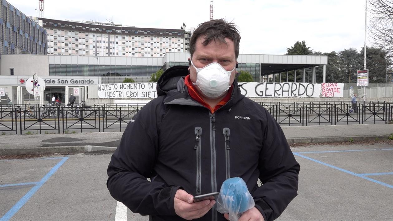 Roger Sevrin Bruland med ansiktsmaske