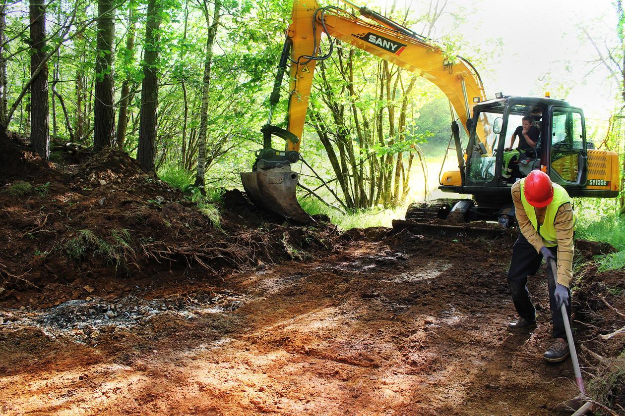 Avdekking av utgravingsfelt