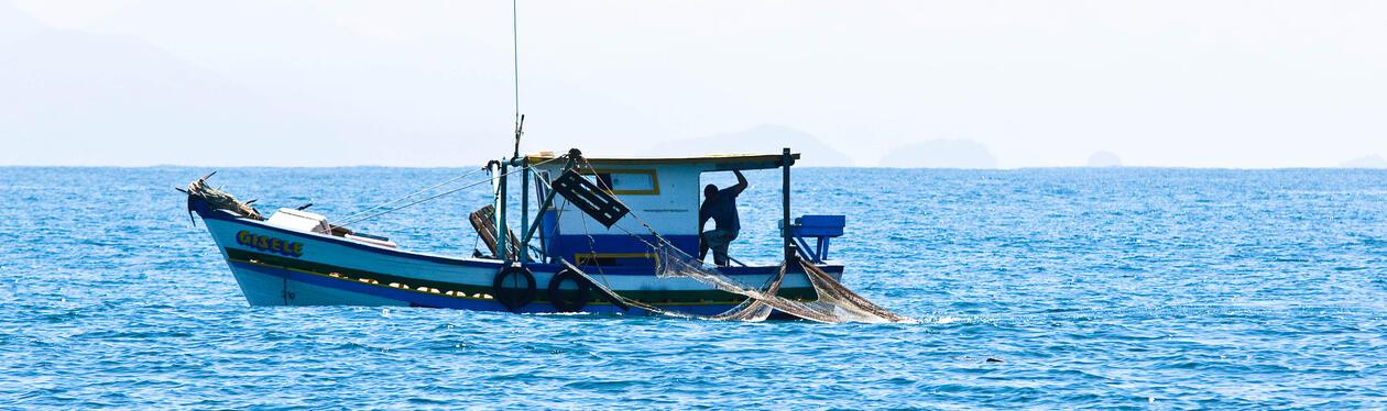 A fishing boat in Brazil