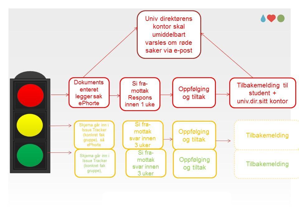 Illustrasjon av prosesser i Si fra-systemet i de ulike linjene