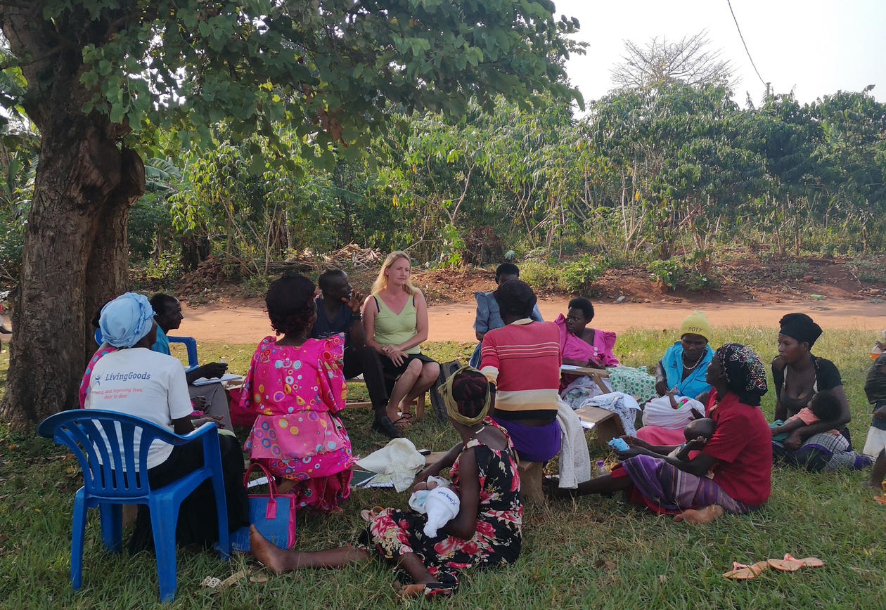 group discussion in Buikwe, Uganda