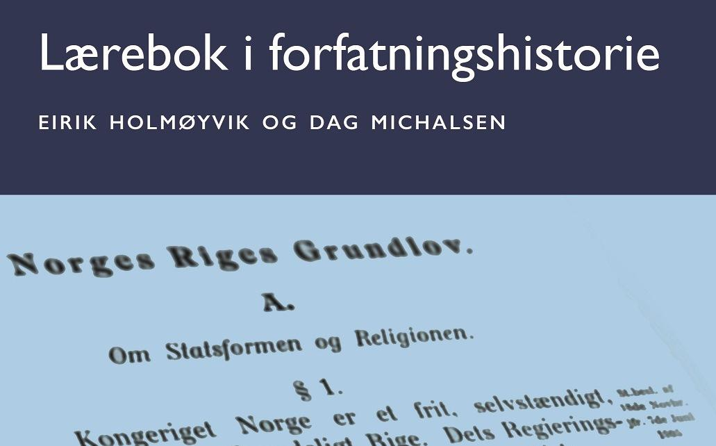 Ny lærebok i forfatningshistorie.