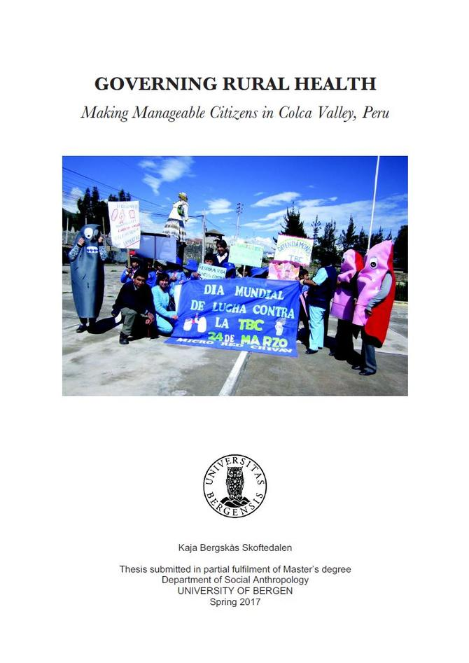 Front page master's thesis: A parade in Colca Valley, Peru
