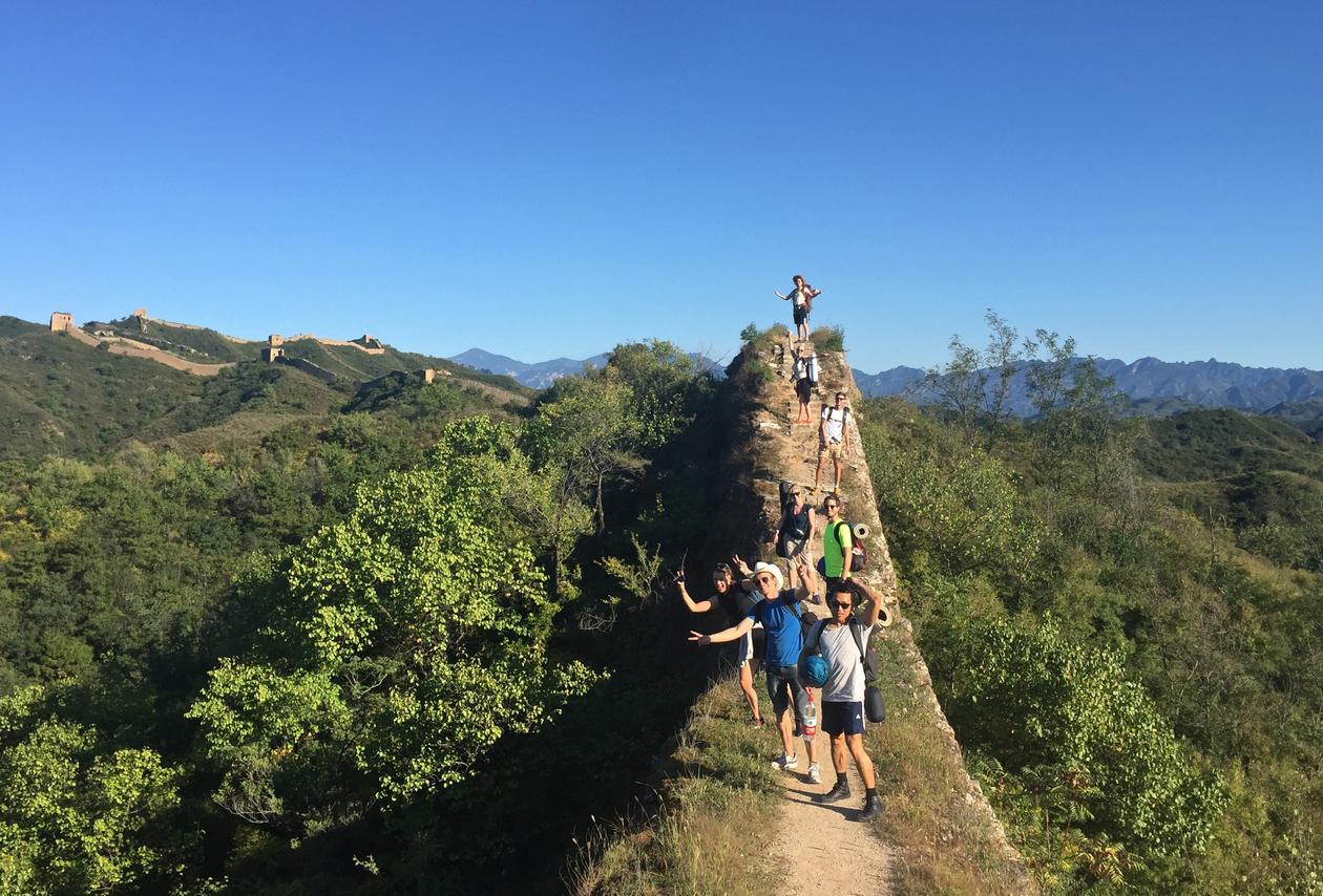 Studentar på den kinesiske mur