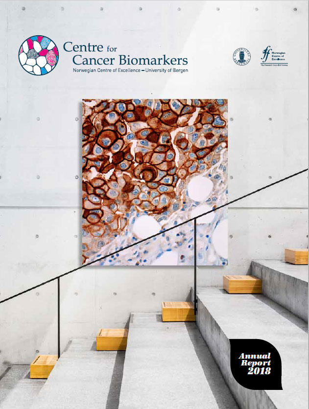 Front page of CCBIO Annual Report 2018.