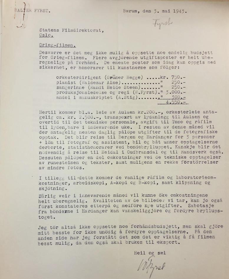 Fyrst document Riksarkivet