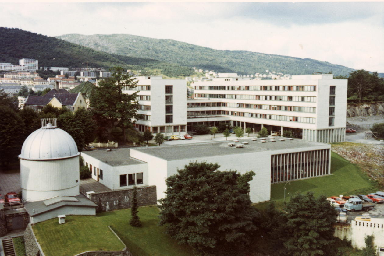 Fysisk institutt før bygging av realfagsbygget.