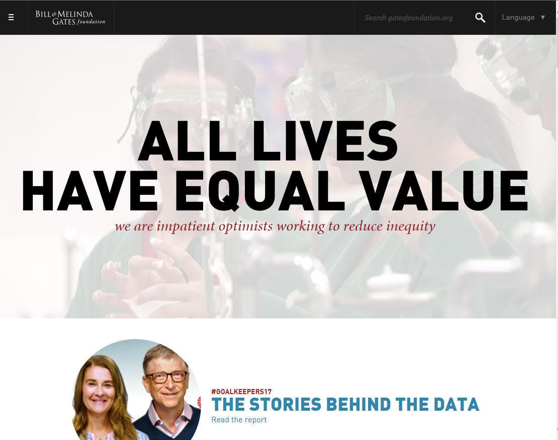 All lives have equal value