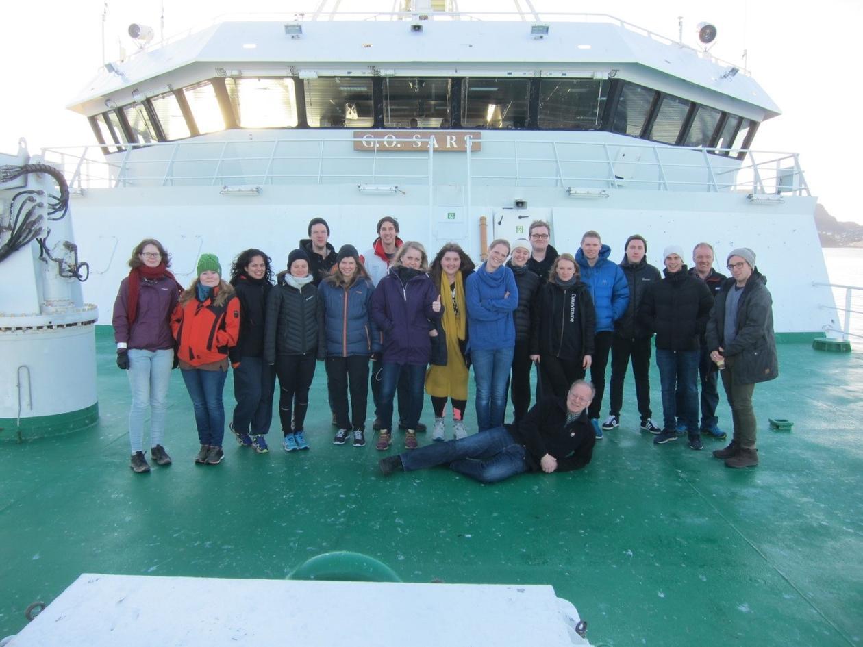 "Toktdeltakere ombord i F/F ""G.O.Sars"