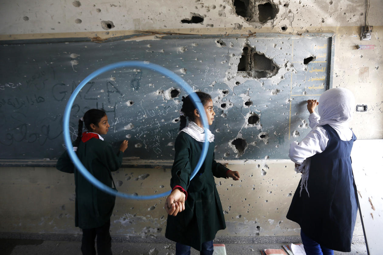 Schoolgirls in Gaza