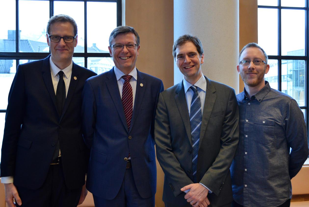 Håvard Haarstad, Dag Rune Olsen, Marco Hirnstein og Harald Barsnes.