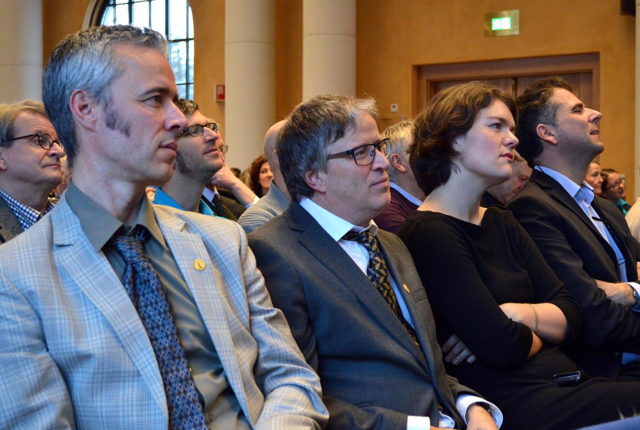 Tarje I. Wanvik, Svein Olaf Dahl, Stina Ellevseth Oseland og Knut Hidle.