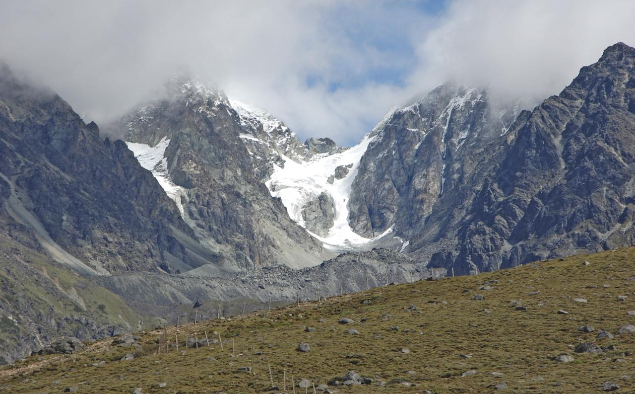 View of the Gongga Mountains and glacier