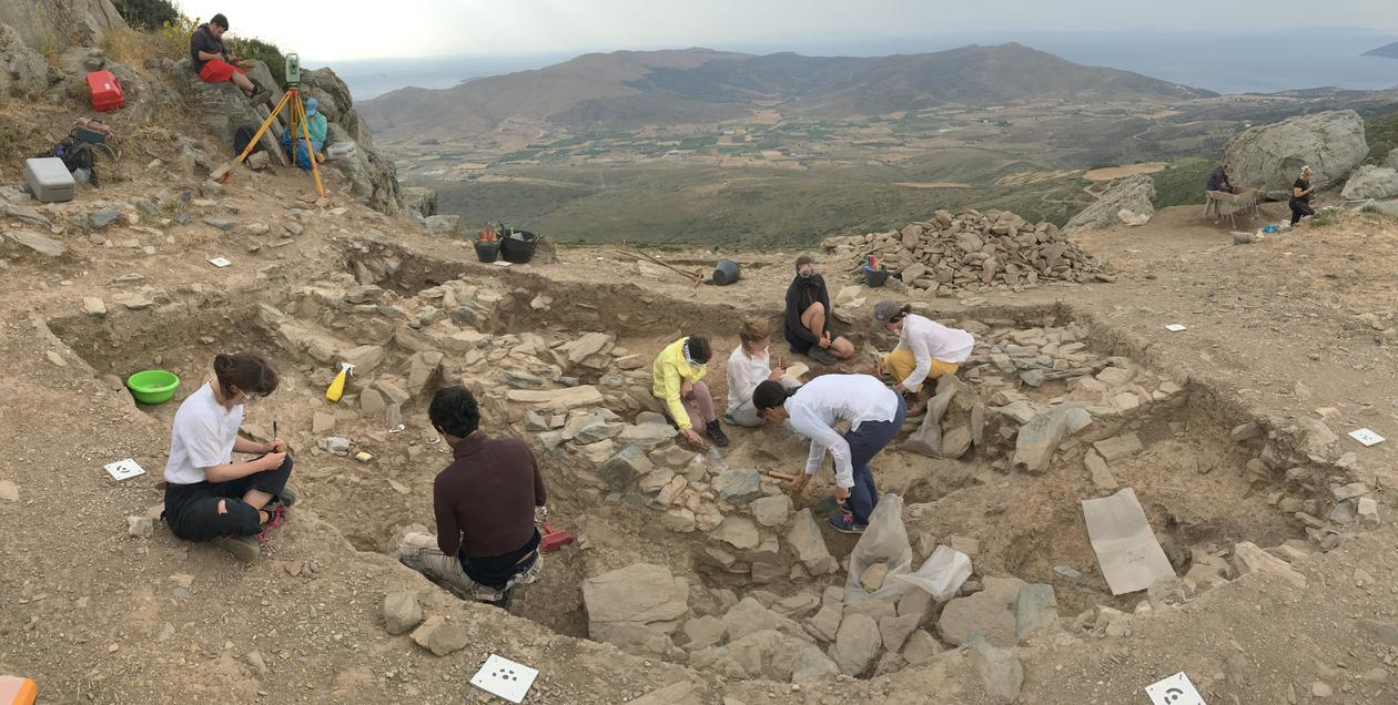NIA excavations at Gourimadi, Greece