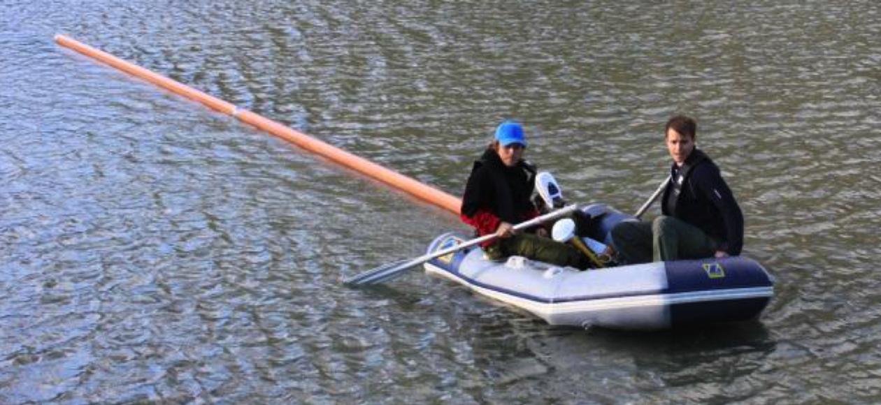 Malå GPR survey on lake
