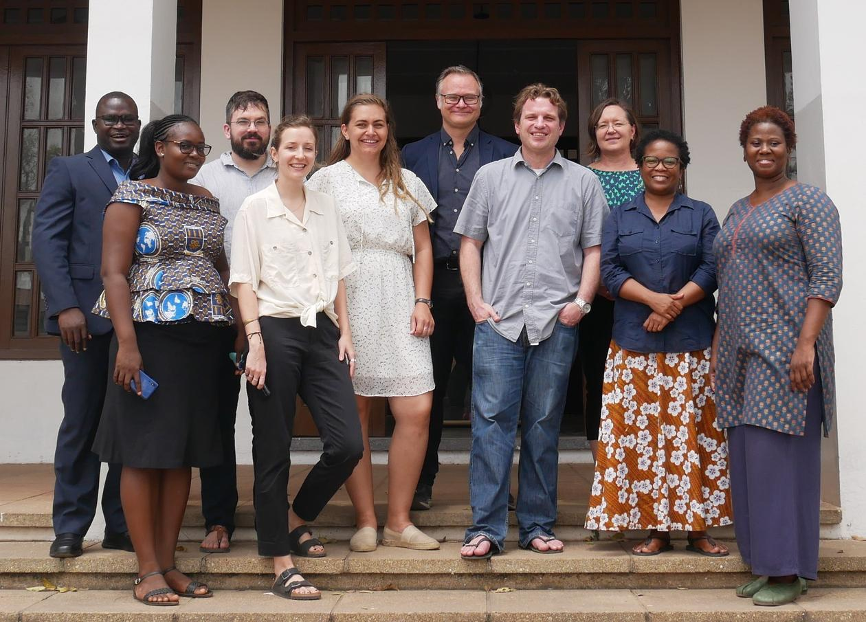 Core and affiliated researchers of Urban Enclaving during the Accra workshop