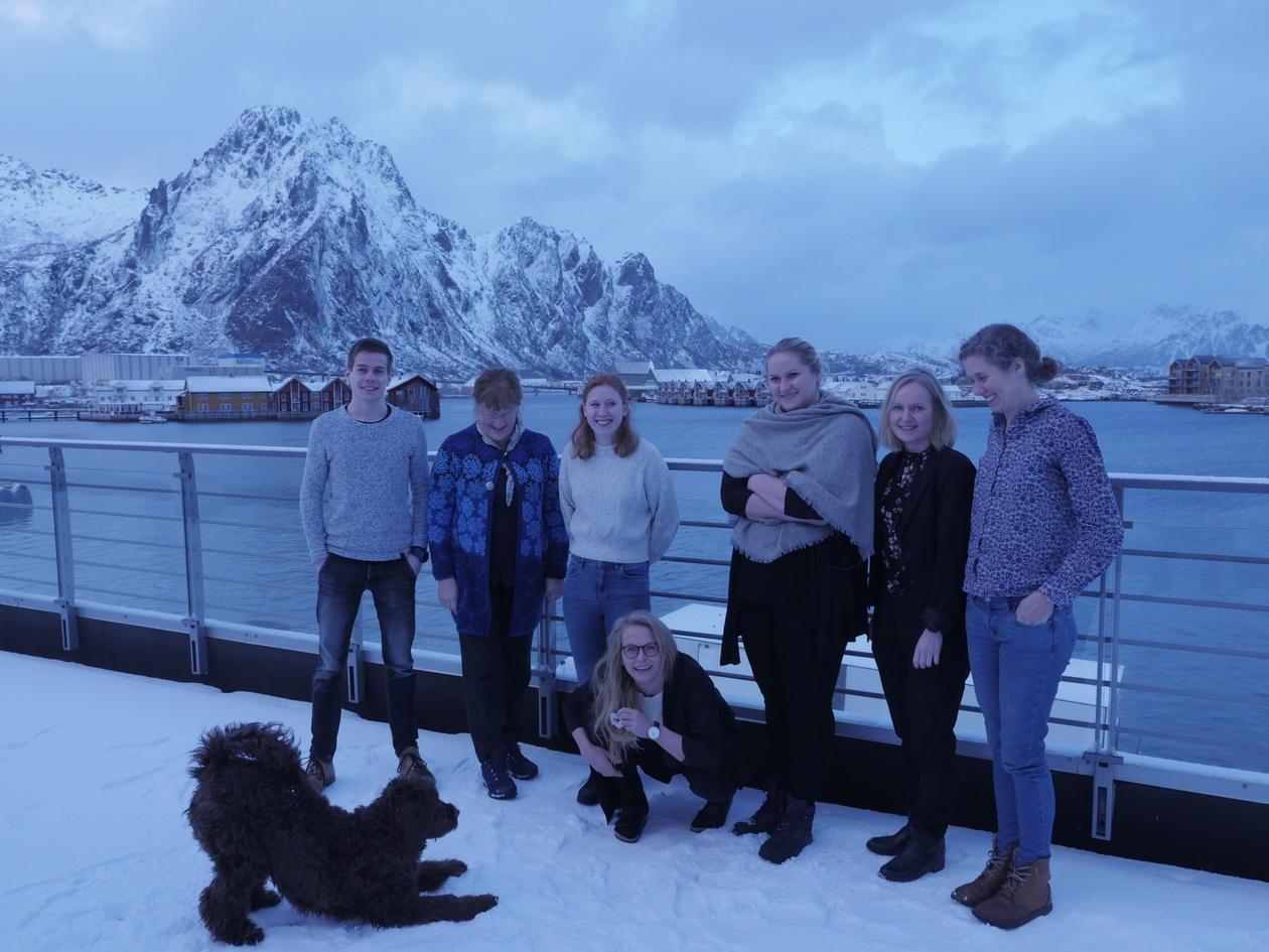 Group of people at Lofoten