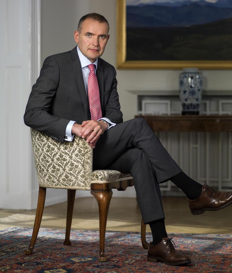 Bilde av den islandske presidenten 2017