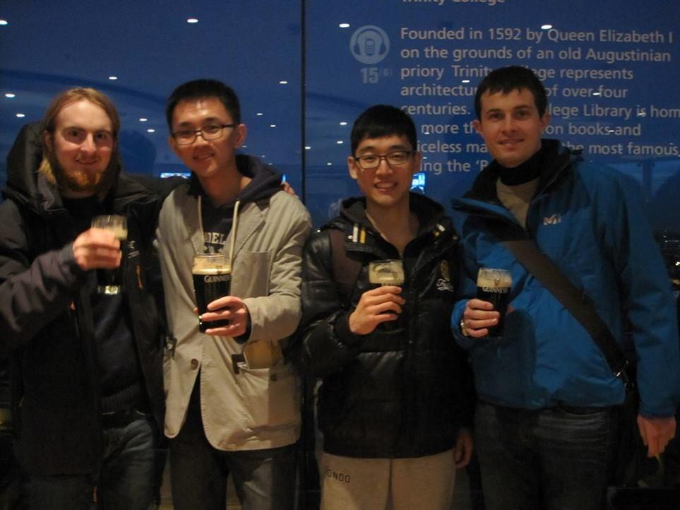 Guinness Storehouse med gode venner.